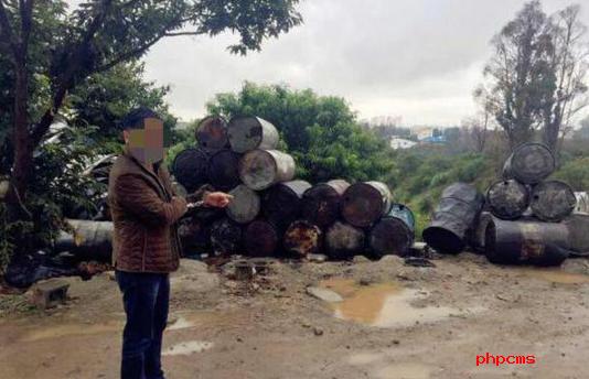 云南一工厂倾倒机油滤渣18吨 造成重大环境污